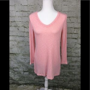 Motherhood Maternity Pink v- Neck Sweater Size M